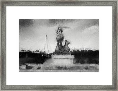 Mermaid Statue Framed Print by Artur Bogacki
