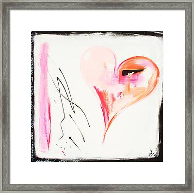 Merry Berry Heart Framed Print by Anahi DeCanio