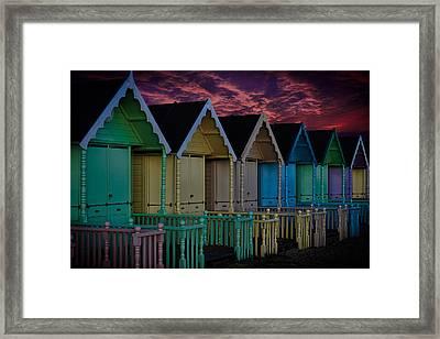 Mersea Island Beach Huts Framed Print