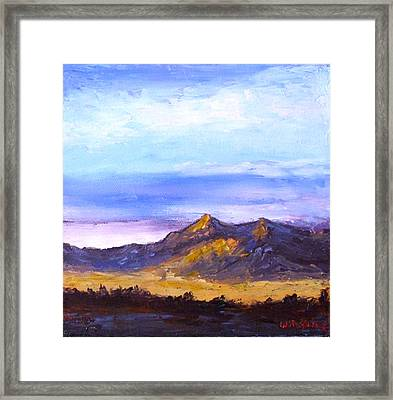 Framed Print featuring the painting Mesa Sunset by Fred Wilson