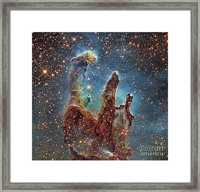 Messier 16, The Eagle Nebula In Serpens Framed Print by Robert Gendler
