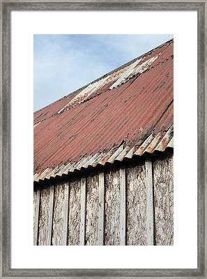 Metal Building Framed Print by Tom Gowanlock