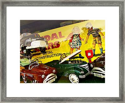 Metal Construction Framed Print by Curtis Staiger