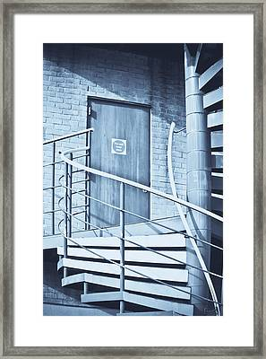 Metal Staircase Framed Print