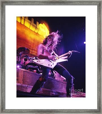 Metallica 1986 James Hetfield Framed Print by Chris Walter