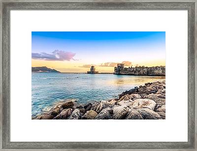 Methoni's Castle / Greece. Framed Print