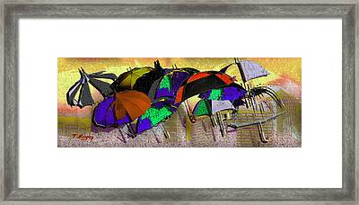 Metro Rains Framed Print by Tony Marquez