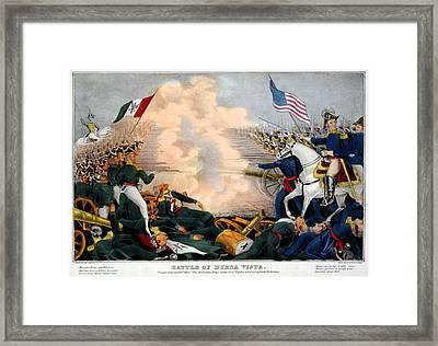 Mexican-american War. Battle Of Buena Framed Print by Everett