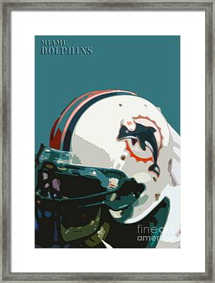 Miami Dolphins Football Team Framed Print by Pablo Franchi