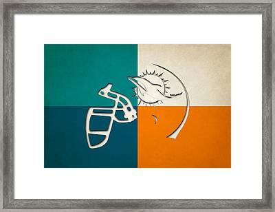 Miami Dolphins Helmet Framed Print
