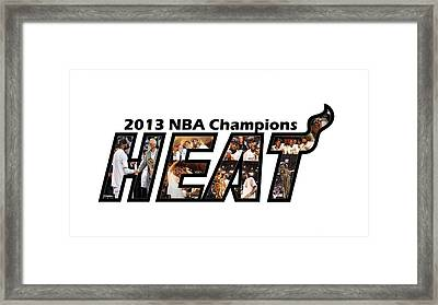 Miami Heat                     Framed Print by F S