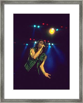 Michael Hutchence Framed Print by Rich Fuscia