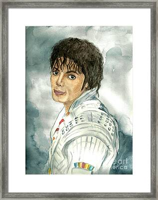 Michael Jackson - Captain Eo Framed Print by Nicole Wang
