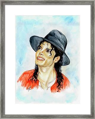 Michael Jackson - Keep The Faith Framed Print by Nicole Wang