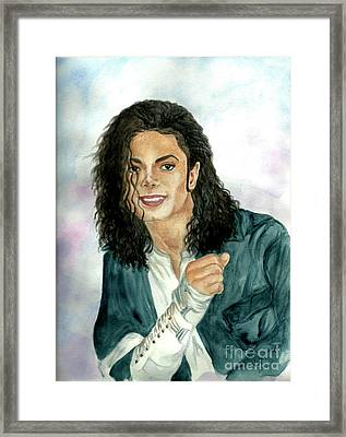 Michael Jackson - Will You Be There Framed Print by Nicole Wang