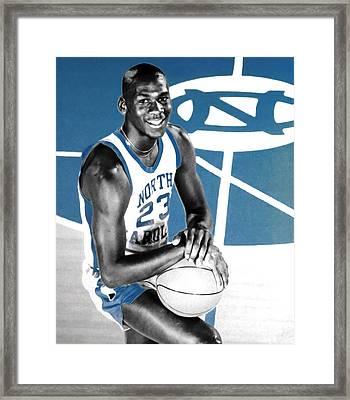 Michael Jordan In The Beginning Framed Print by Brian Reaves