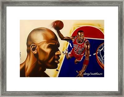 Michael Jordan Framed Print by Darryl Matthews