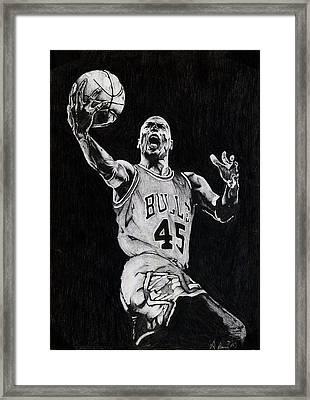 Michael Jordan Framed Print by Hari Mohan