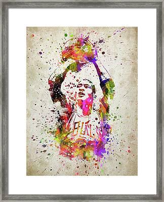 Michael Jordan In Color Framed Print