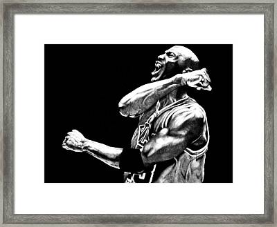 Michael Jordan Framed Print by Jake Stapleton