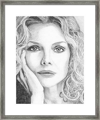 Michelle Pfeiffer Framed Print by Alexandra Riley
