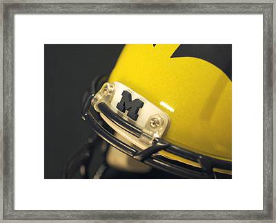 Framed Print featuring the photograph Michigan M by Michigan Helmet