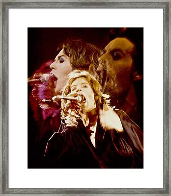 Mick Trio Framed Print by Sandy Ostroff