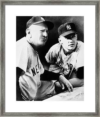 Mickey Mantle (1931-1995) Framed Print by Granger