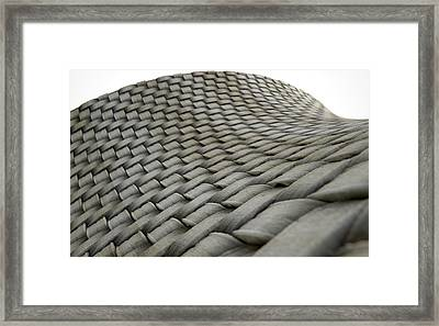 Micro Fabric Weave Dirty Framed Print