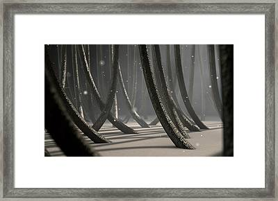 Microscopic Hair Fibers Framed Print by Allan Swart