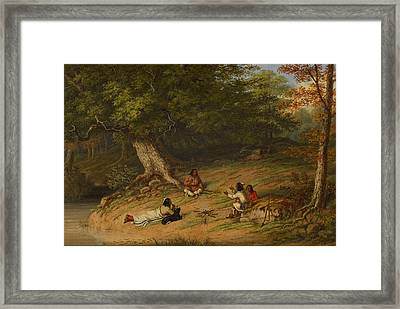 Midday Rest Framed Print by Cornelius Krieghoff