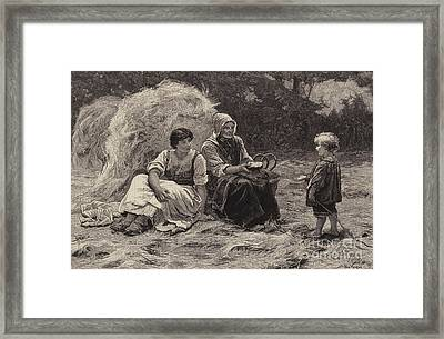 Midday Rest Framed Print by Frederick Morgan
