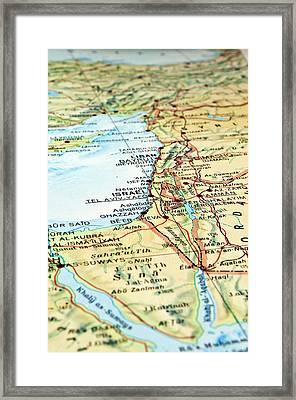 Middle East Map. Framed Print