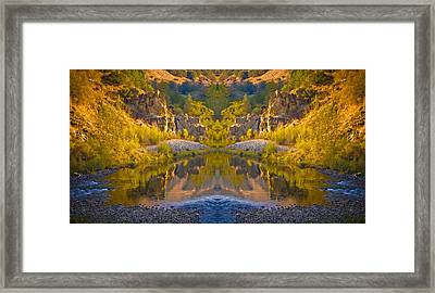 Framed Print featuring the photograph Middle Fork Magic 2 by Sherri Meyer