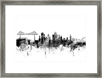 Middlesbrough England Skyline Framed Print