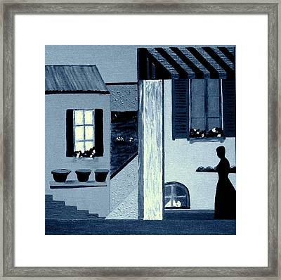 Midnight In Limoux Framed Print by Bill OConnor