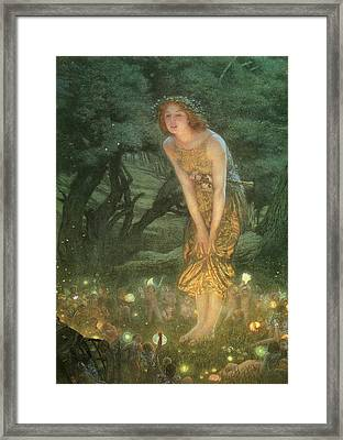 Midsummer Eve Framed Print by Edward Robert Hughes