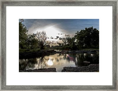 Midwest Sunset Framed Print