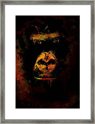 Mighty Gorilla Framed Print by Jaroslaw Blaminsky