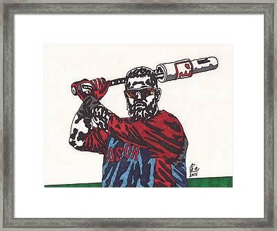 Mike Napoli 2 Framed Print