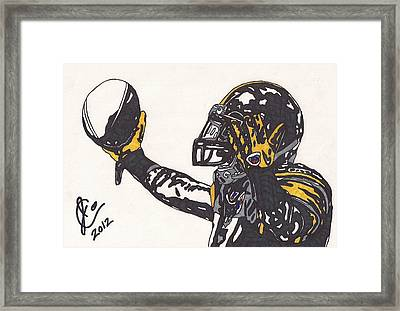 Mike Wallace 3 Framed Print by Jeremiah Colley