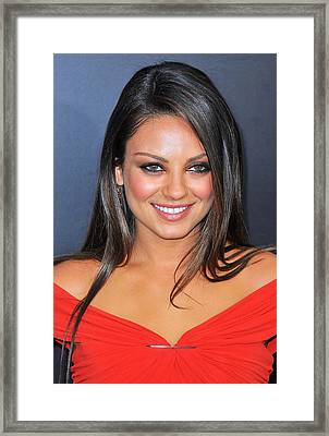 Mila Kunis At Arrivals For Friends With Framed Print
