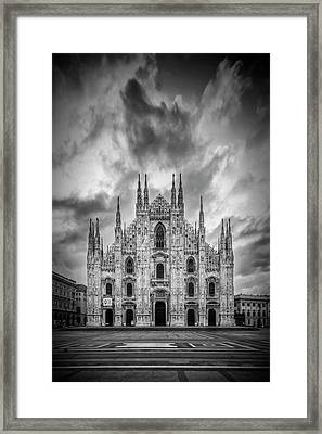 Milan Cathedral Santa Maria Nascente Framed Print