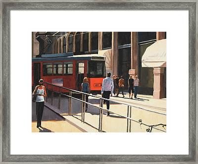 Milan Trolley Framed Print