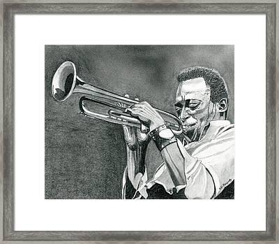 Miles Davis Framed Print by Jeff Blazejovsky