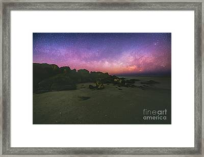 Milky Way Beach Framed Print