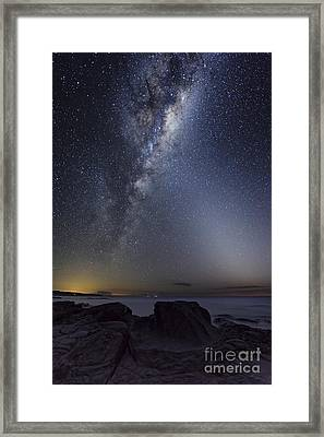 Milky Way Over Cape Otway, Australia Framed Print