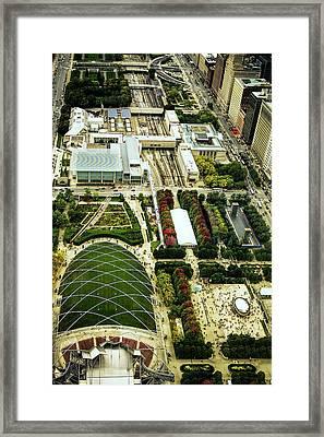Millennium Park In Chicago Framed Print