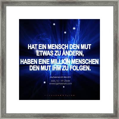 1 Million Framed Print by Joerg Federmann Typhoonart