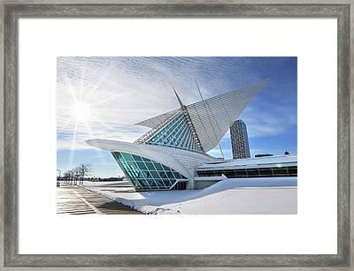 Milwaukee Art Museum Framed Print by Edwin Verin